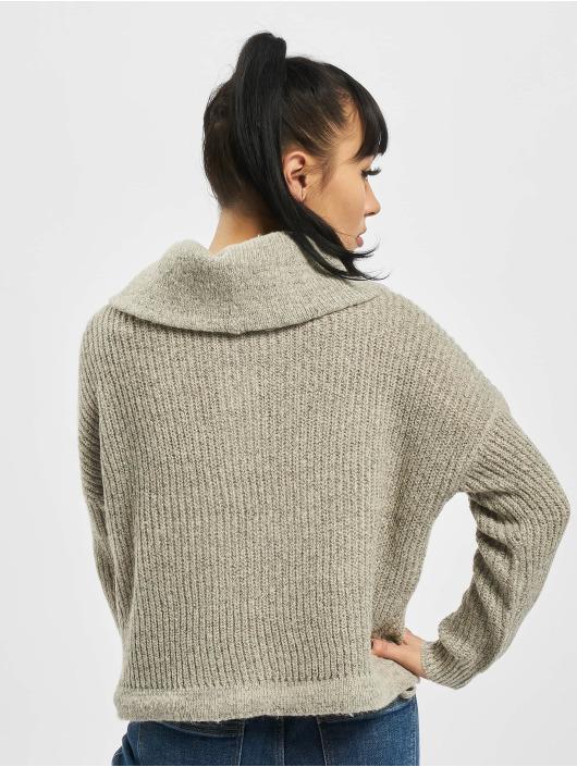 Only Pullover onlNia Rollneck Knit Noos grau