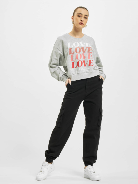 Only Pullover onlLove Life grau