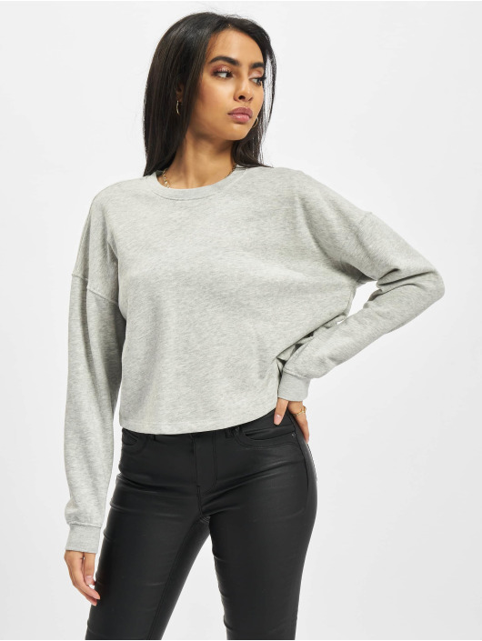Only Pullover Onlbless Cropped grau