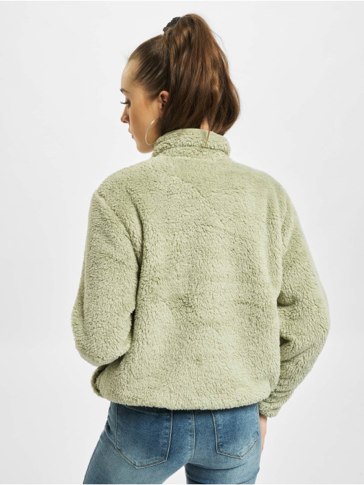 Only Pullover onlDalina 1/2 Zip Teddy green