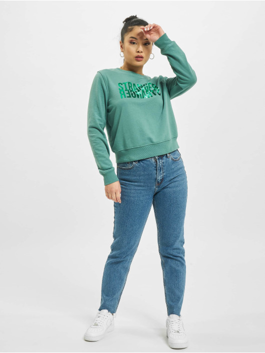 Only Pullover onlVilla Life Foil grün