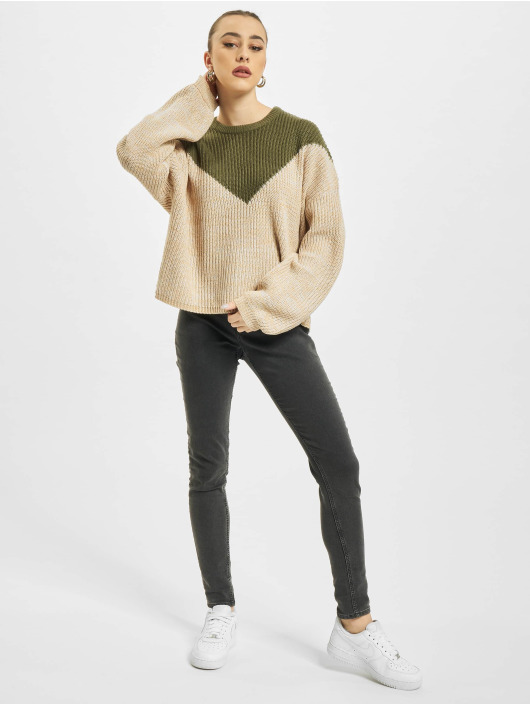 Only Pullover onlSookie Block Knit khaki