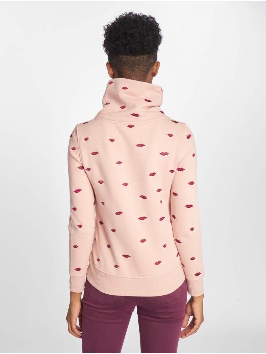 Only Pullover onlLisa Zip Highneck rosa