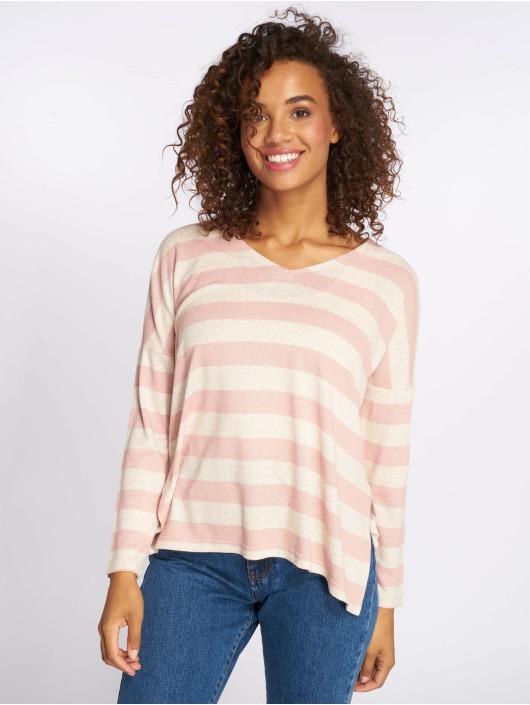 Only Pullover onlMaye LS Stripe V-Neck rosa