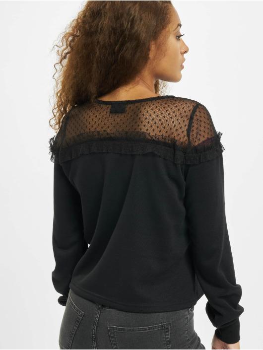 Only Pullover onlCherry Mesh O-Neck schwarz