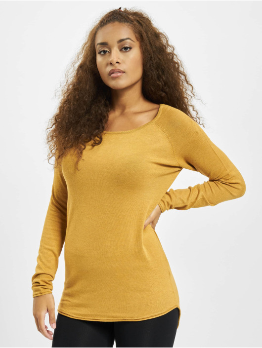 Only Pullover onlMila Lacy Long Knit NOOS yellow