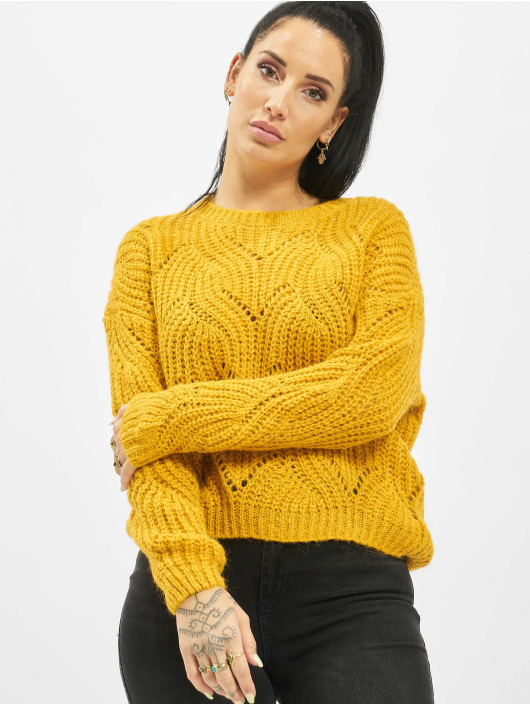 Only Pullover onlHavana Knit NOOS yellow