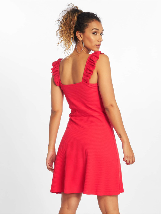 Only Robe onlTine Rib rouge