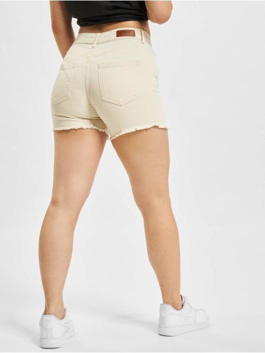 Only Short Blush Mid Shorts Raw Dot beige