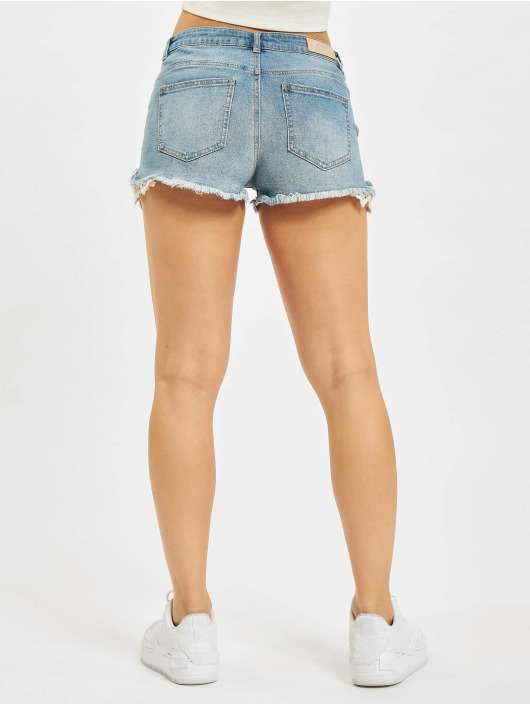 Only Shorts Carmen Life Lace Denim blå