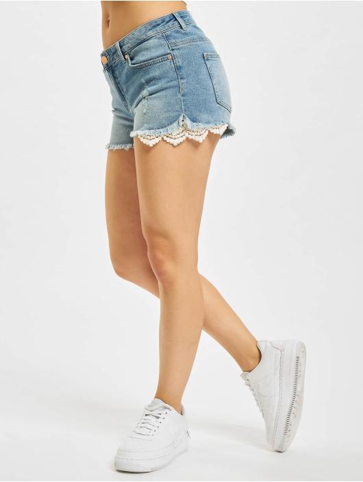 Only Shorts Carmen Life Lace Denim blau