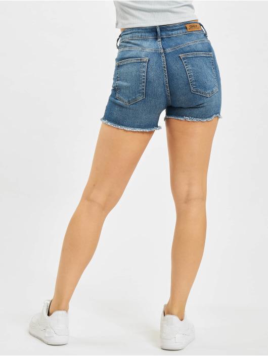 Only Shorts onlBlush Life Mid SK Raw blau