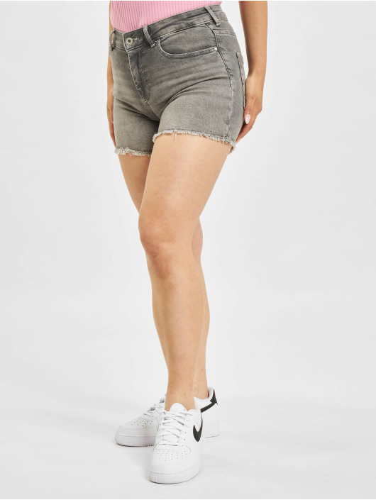 Only Shorts onlBlush Life Mid SK Raw Noos grau
