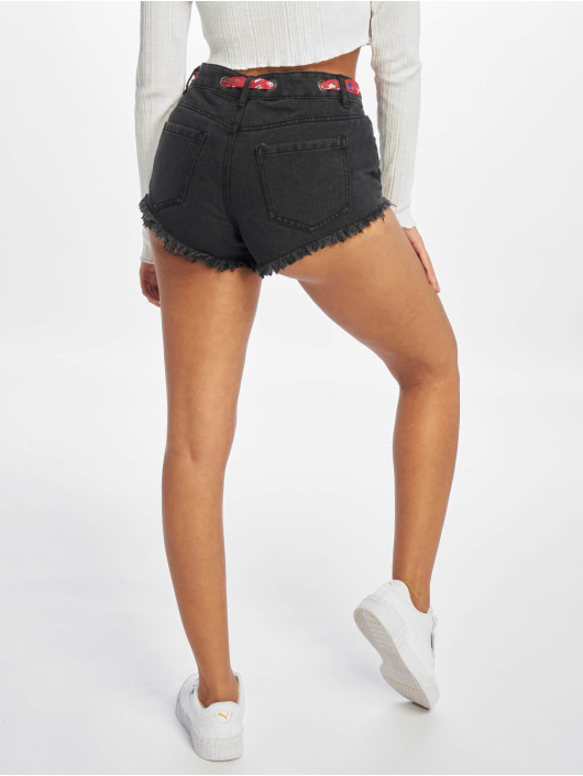 Only shorts onlDivine Midi Belt Eyelet zwart