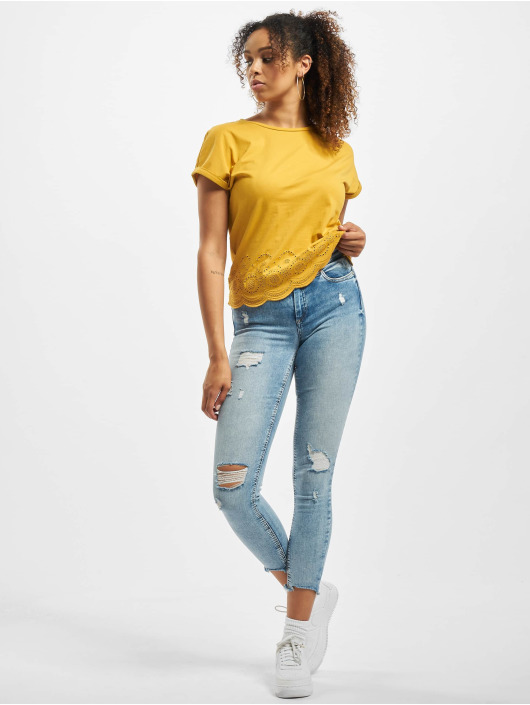 Only Skinny Jeans onlBlush Mid Ankle Detroy blau