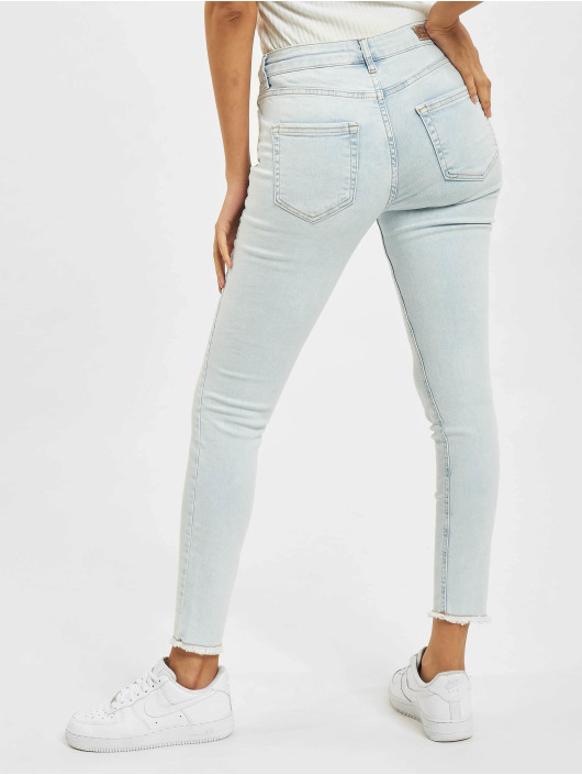 Only Skinny Jeans onlBlush Life Mid Raw Ankle BB REA298 blau