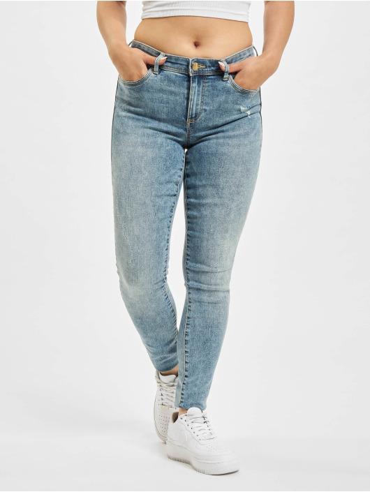Only Skinny Jeans onlWauw Life Mid Skinny blau