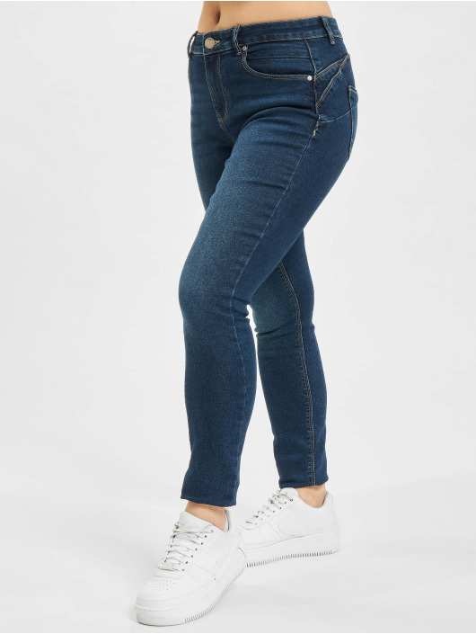 Only Skinny Jeans onlDaisy Life Reg Push Up Ankle blau