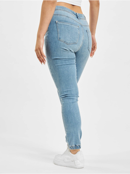 Only Skinny Jeans onlWauw Life Mid Elastic Mb Ank Bj Skinny blau