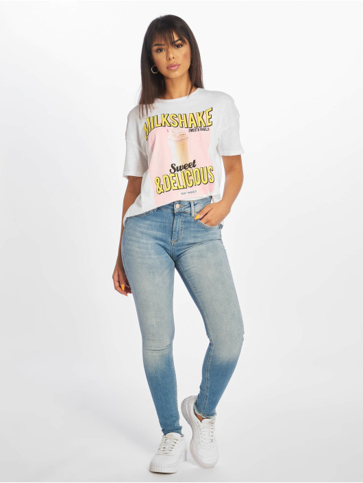 Only Skinny jeans onlBlush Mid Ankle Raw blauw