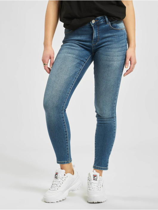 Only Skinny jeans onlDaisy Regular Pushup Ankle blauw