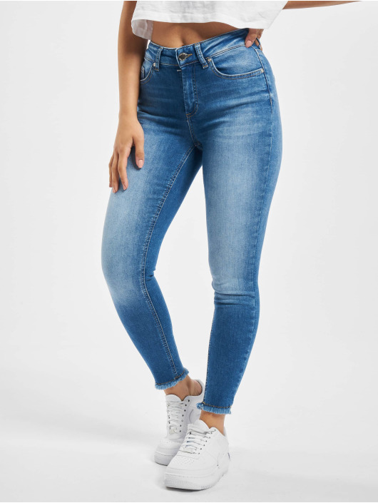 Only Skinny Jeans onlBlush Life Mid Ankle Raw Noos blue