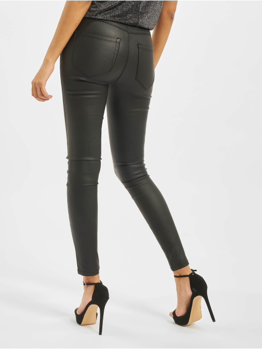 Only Skinny Jeans onlRoyal High Waist Button Coated czarny