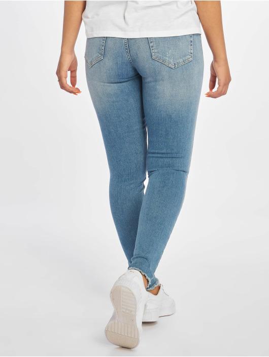 Only Skinny Jeans onlBlush Mid Ankle Raw niebieski