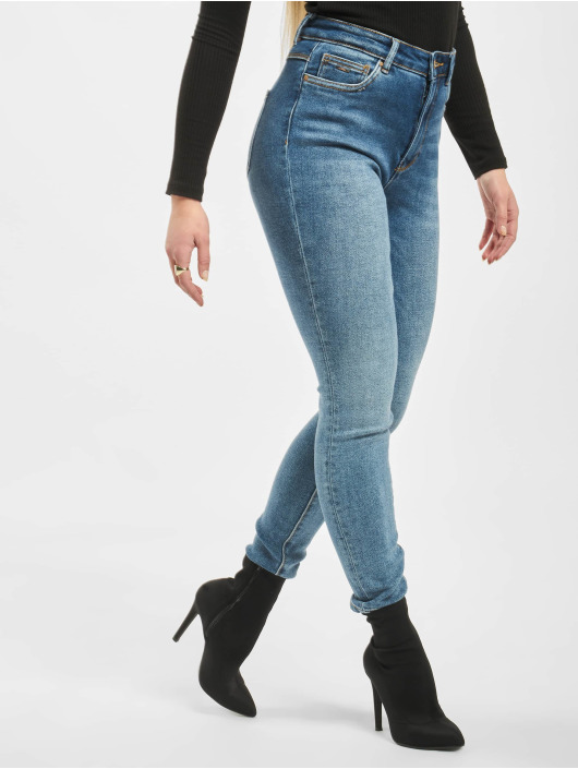 Only Skinny Jeans onlMila High Waist niebieski