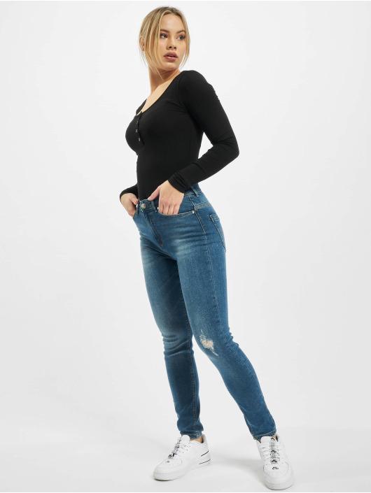 Only Skinny Jeans onlPaola High Waist Ankle niebieski