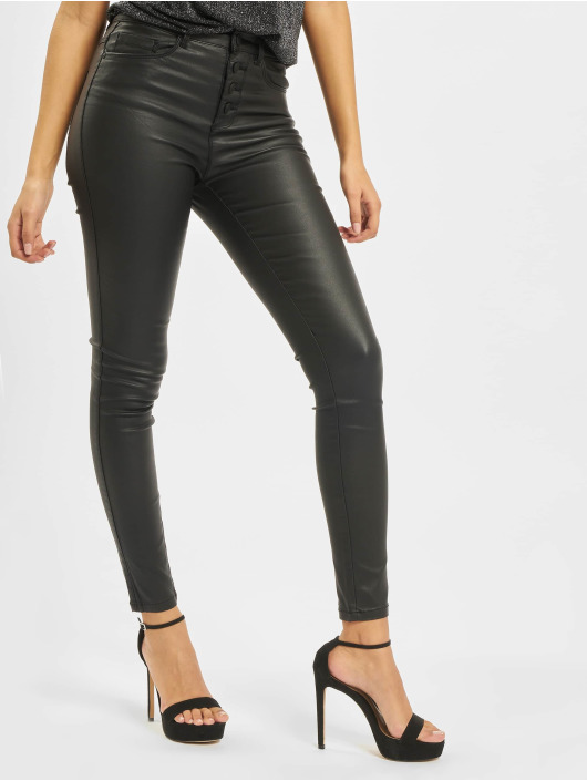 Only Skinny Jeans onlRoyal High Waist Button Coated schwarz