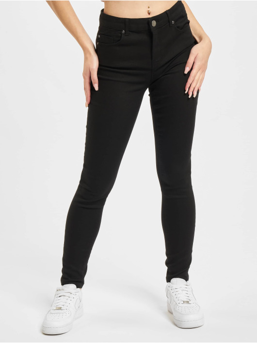 Only Skinny jeans Midankle Pushup zwart
