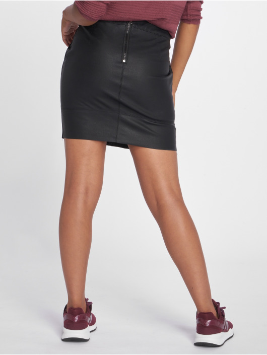 Only Skirt onlBase Faux Leather black