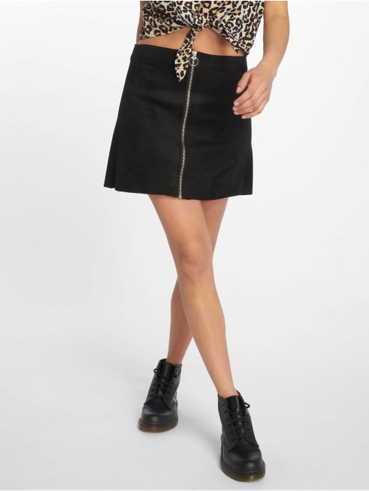 Only Skirt nlNew Faux Suede Bonded black