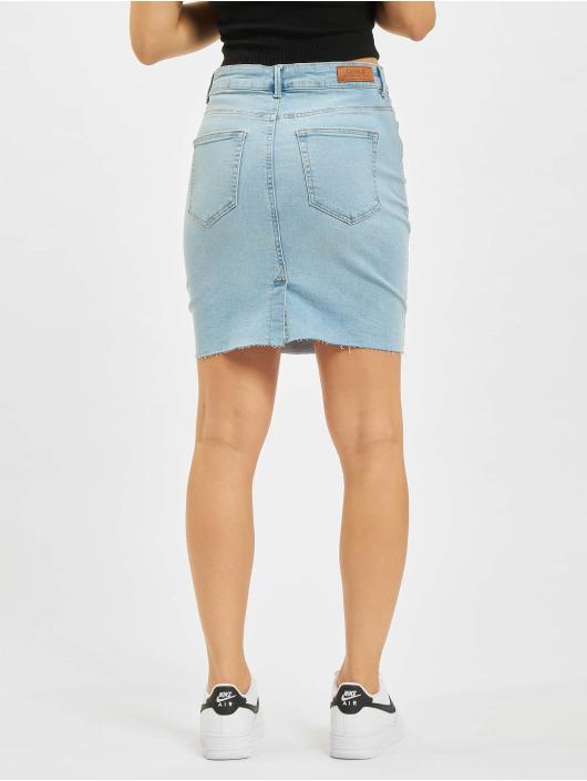 Only Skirt Fan Raw Edge blue