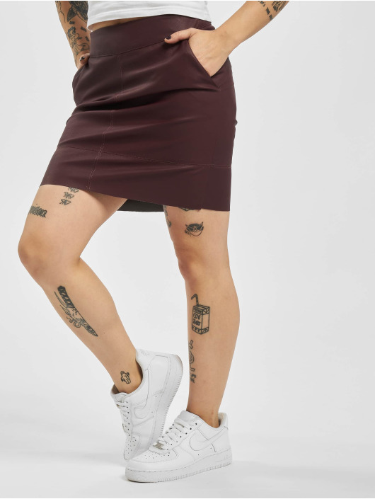 Only Skirt onlBase NOS Faux Leather red