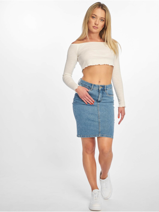 Only Skjørt onlKiss High Denim Skirt blå