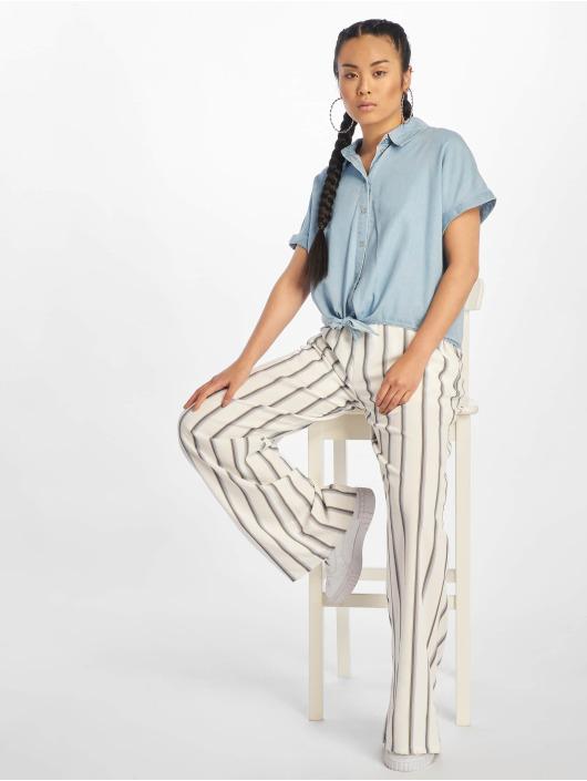Only Skjorta onlMilen Knot Denim blå