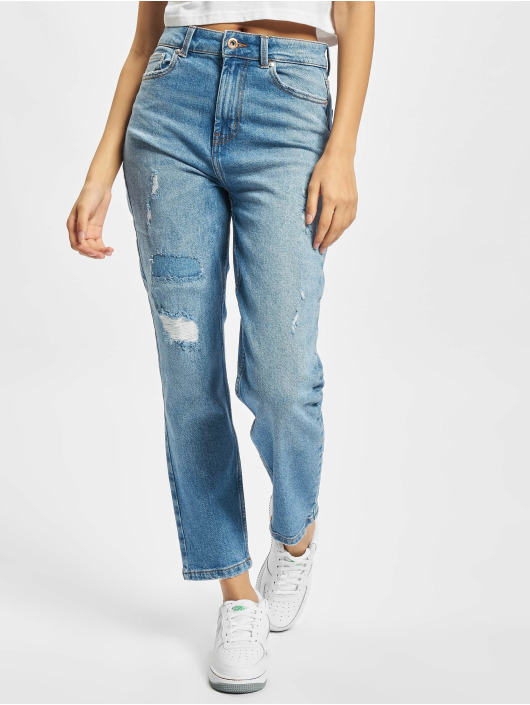 Only Slim Fit Jeans Onlemily Repaired blau