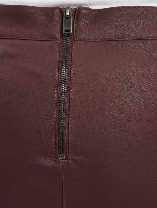 Only Spódniczki onlBase NOS Faux Leather czerwony
