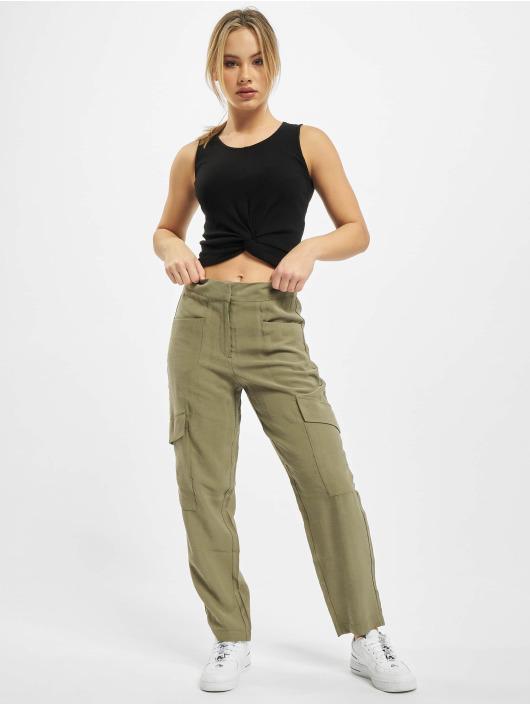 Only Spodnie Chino/Cargo onlEberta-Aina High Waist Uility oliwkowy
