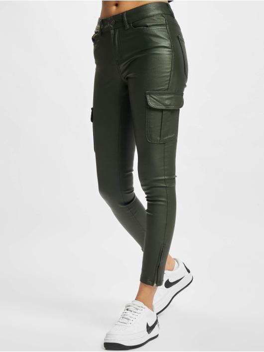 Only Spodnie Chino/Cargo Anne NYA zielony