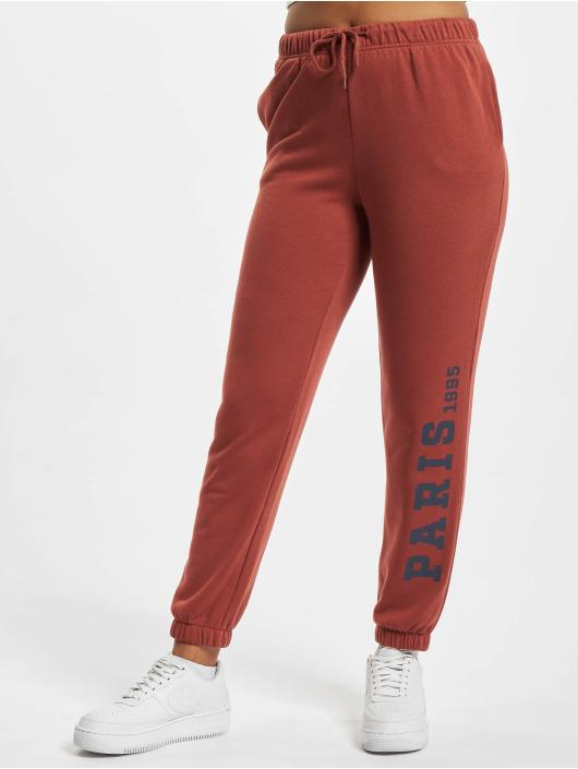 Only Spodnie do joggingu Onlcomfy czerwony