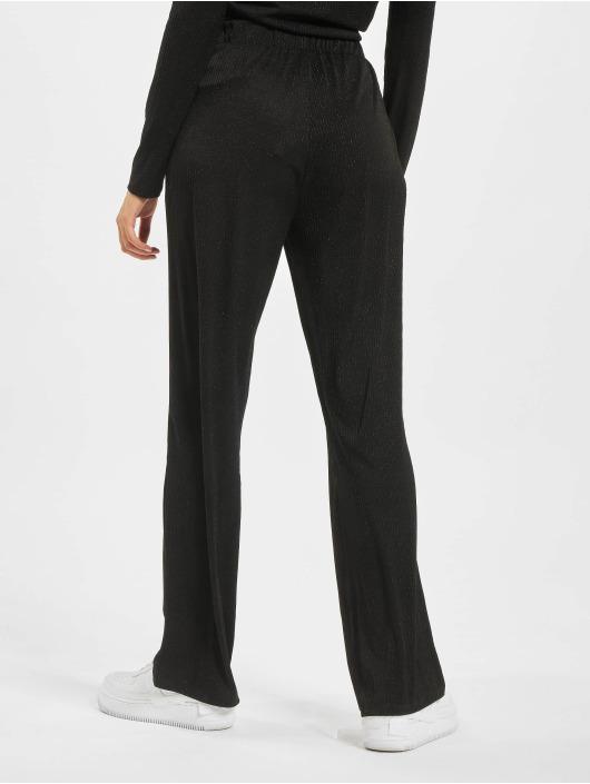 Only Spodnie wizytowe nlCosmo Glitter Jersey czarny