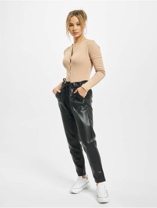 Only Spodnie wizytowe onlPoptrash Easy Coated Noos czarny