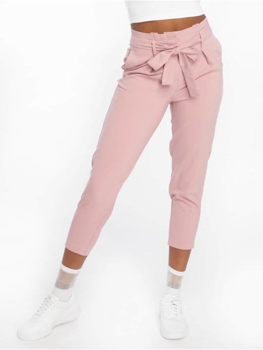 Only Stoffbukser onlNicole Paperbag rosa