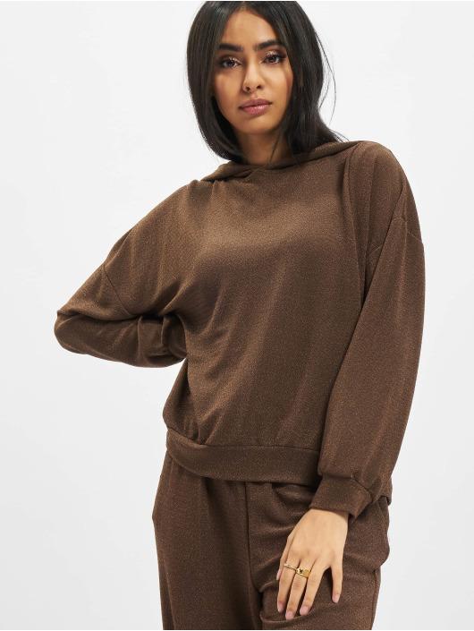 Only Sudadera Onlvera Glitter marrón