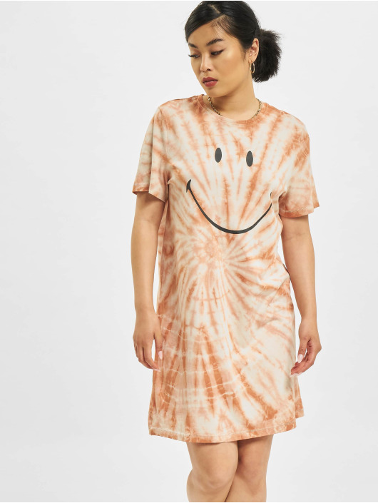 Only Sukienki Onlsmiley Life Tie Dye JRS brazowy