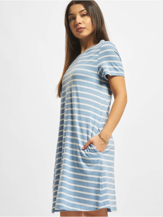 Only Sukienki onlMay Life Shortsleeve Pocket niebieski