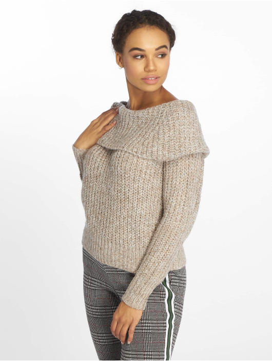 Only Sweat & Pull onlNew Fiona Off Shoulder beige
